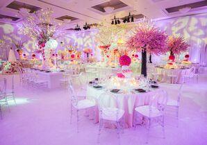 Glamorous Pink Reception