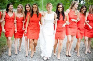 J.Crew Poppy Lace Bridesmaid Dresses