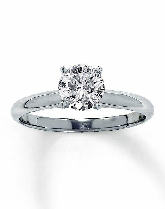 Kay Jewelers Diamond Solitaire Ring 1 ct Round 14K White Gold-150866806 Engagement Ring photo