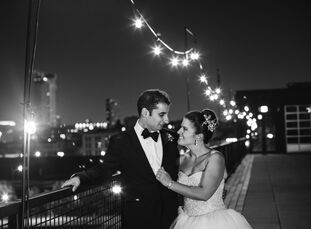 Alyse Andalman (28 and an attorney) and Vadim Sagalchik's (28 and an IT consultant) wedding was an industrial chic affair with a vibrant, summery twis