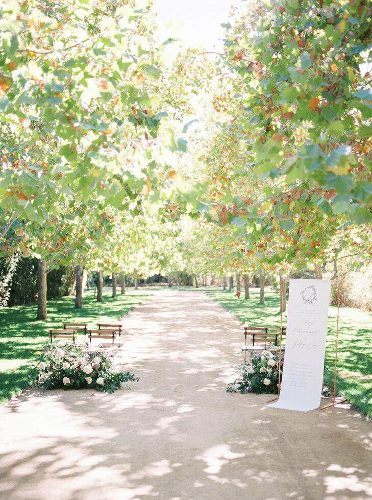 Ceremony Setup at Kestrel Park in Santa Ynez, California