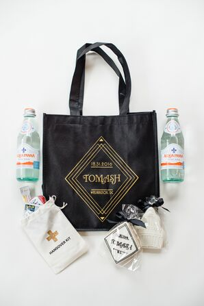Welcome Bags with Art Deco, DC-Inspired Treats