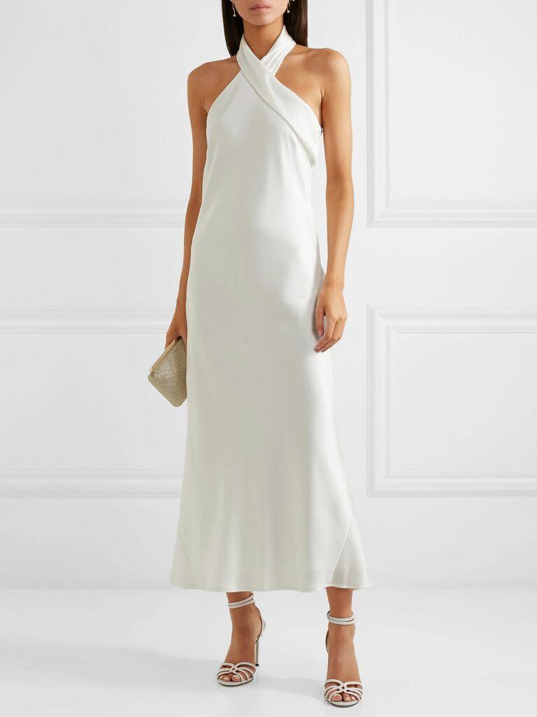Galvan reception dress