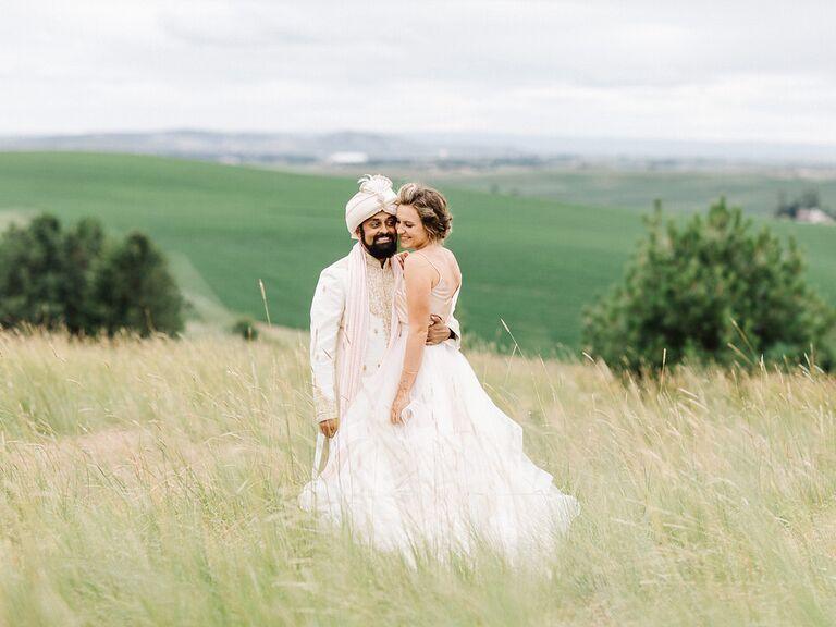 Idaho newlyweds in country field