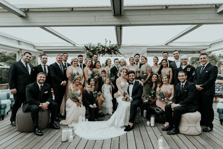 Formal Couple and Wedding Guests at The Confidante Hotel
