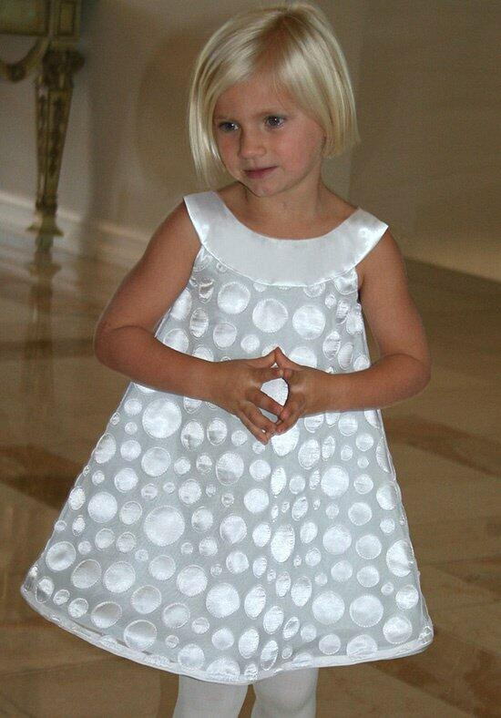 Isabel Garretón Grey Dots Flower Girl Dress photo