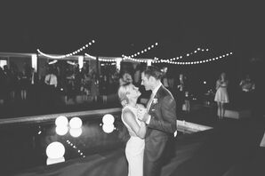 String Lights at Backyard Wedding