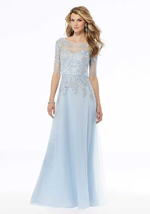 MGNY 72128 Black,Blue Mother Of The Bride Dress