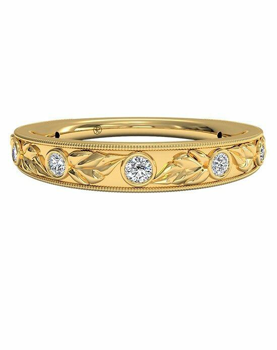 Ritani Women's Hand-Carved Grecian Diamond Wedding Band in 18kt Yellow Gold (0.05 CTW) Wedding Ring photo