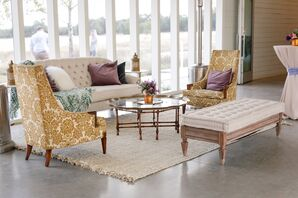 Bohemian Lounge Area with Batik Patterned Chairs