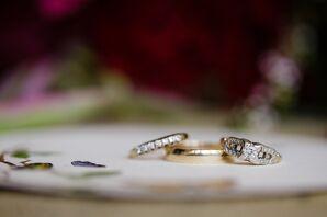 Round Diamond Ring in Unique Setting