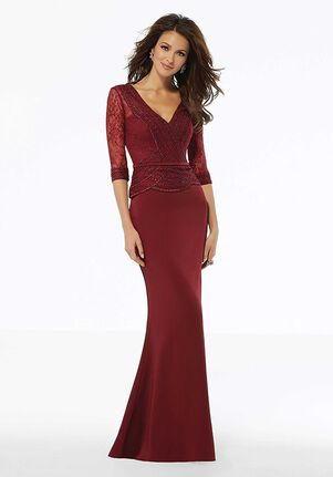 MGNY 72117 Silver,Blue,Red Mother Of The Bride Dress