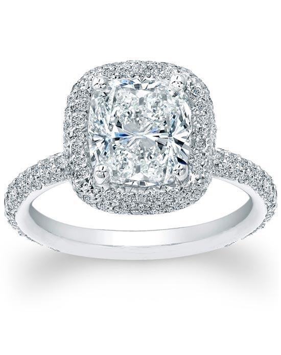 Since1910 Thin Micro Pave Halo Diamond Engagement Ring Engagement Ring