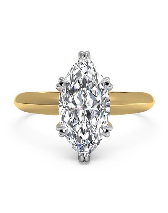 Ritani Solitaire Diamond Knife-Edge Tulip Engagement Ring - in 18kt Yellow Gold for a Marquise Center Stone Engagement Ring photo