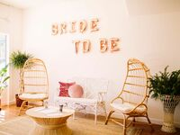 Bridal shower venue with rose gold Bride To Be balloons