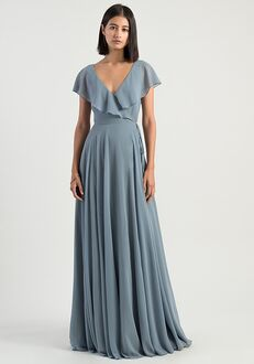 Jenny Yoo Collection (Maids) Faye V-Neck Bridesmaid Dress