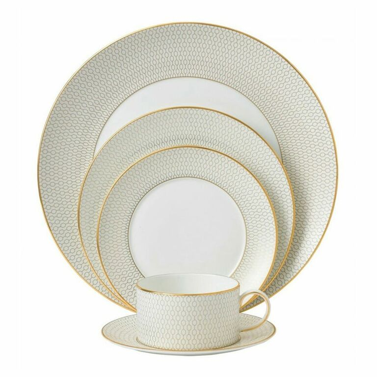 embroidered plates and set on the knot registry store