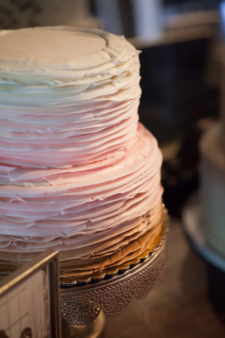 A pink, ombre cake covered in buttercream was just one of three custom creations crafted by the Second Floor Bakery.
