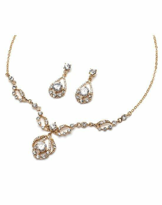 USABride Pure Sparkle Gold Jewelry Set Wedding Necklaces photo