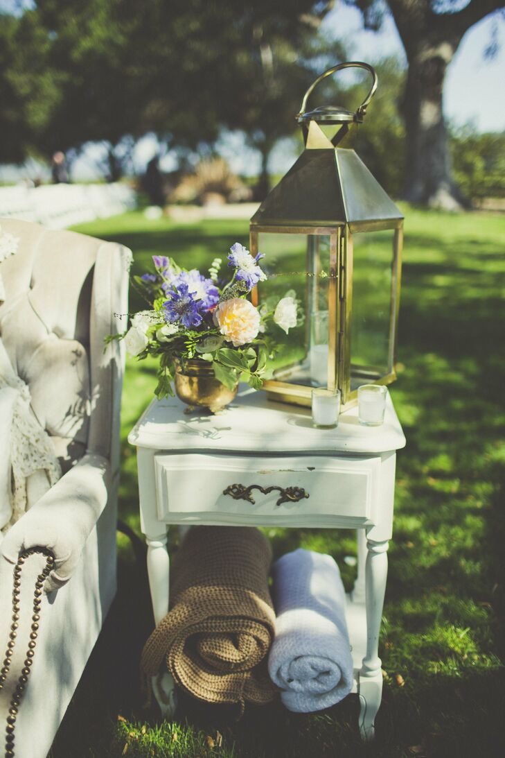 Vintage furniture and decor was the perfect solution to achieving Lindsey's vision of rustic and elegant.