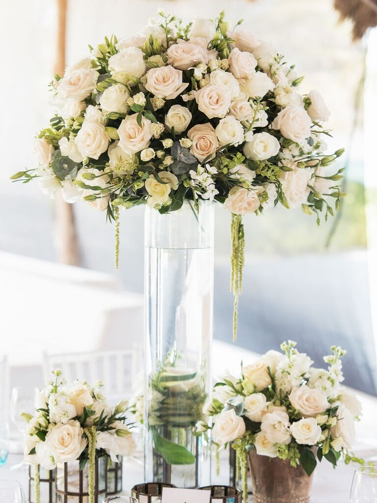 high-low rose centerpieces