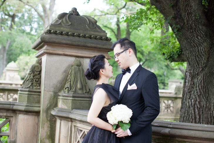 High school sweethearts Gloria Sin (33 and a tech journalist) and Darren Shield (32 and an intellectual property attorney) dated long distance for yea