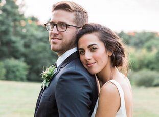 College sweethearts Angela Gispert (26 and a graphic designer) and Christopher Church (26 and also a graphic designer) exchanged vows at the same pari