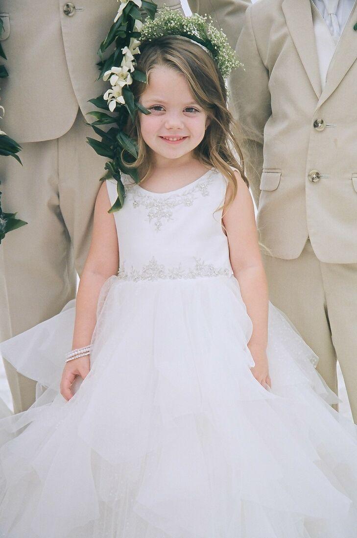 White Tulle Flower Girl Dress