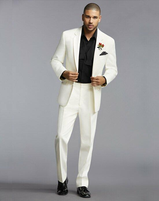 The Men's Wearhouse® Notch Lapel Ivory Tuxedo Wedding Tuxedos + Suit photo