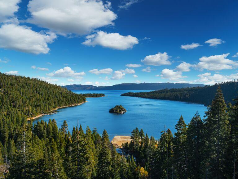 View of Lake Tahoe in California