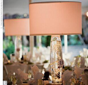 Lamp wedding centerpieces