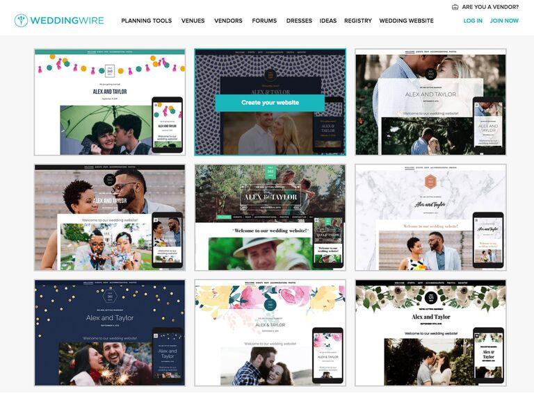 Wedding Wire Wedding Website templates