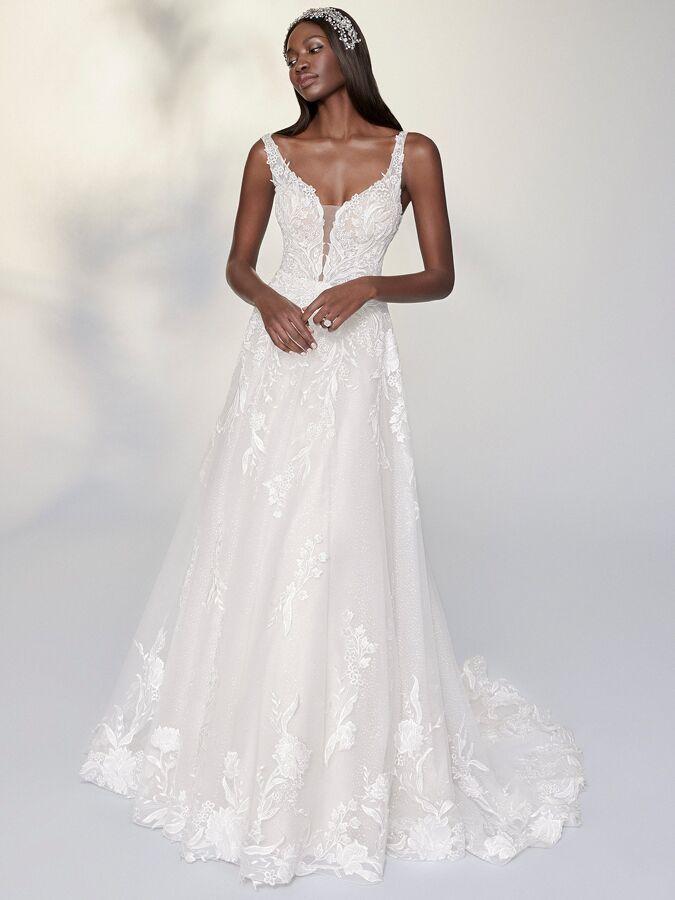 Justin Alexander Signature glitter tulle A-line wedding dress