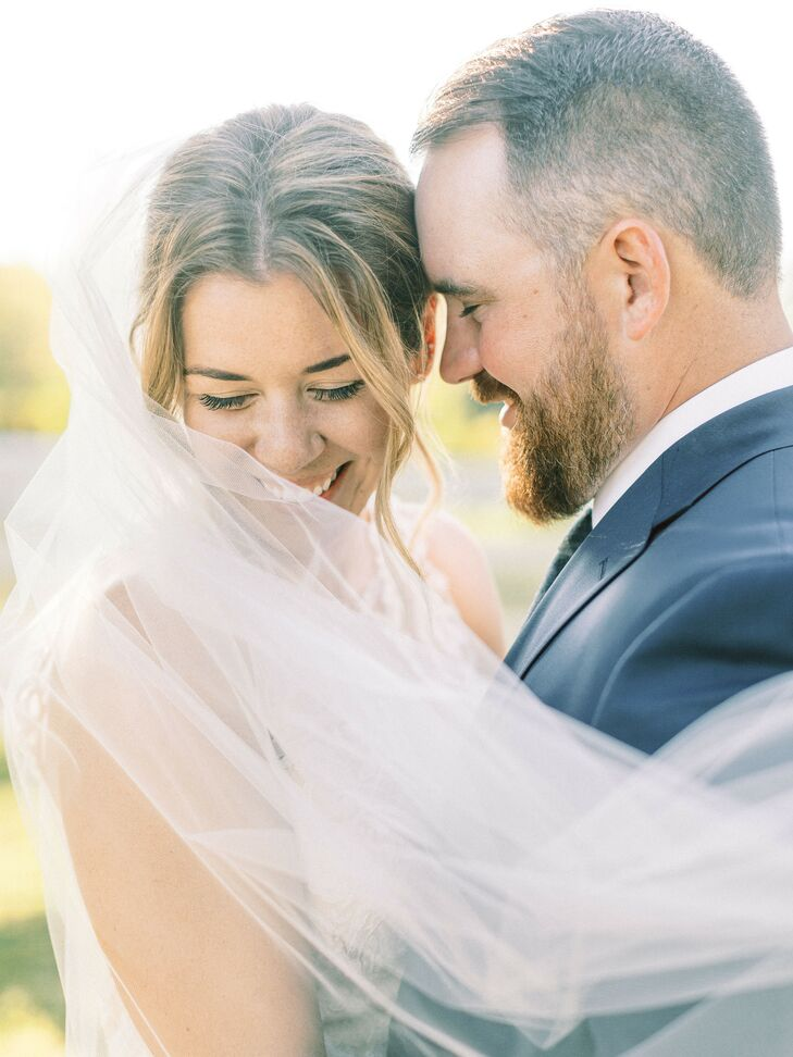 Couple Shares an Intimate Moment at Michigan Wedding