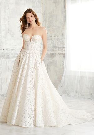 Adrianna Papell Platinum 31139 A-Line Wedding Dress