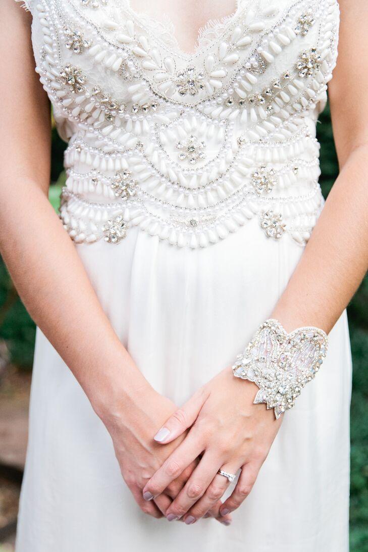 Crystal Embellished Art Deco Bracelet