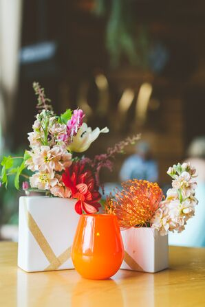 Eclectic, Colorful Bud Vases