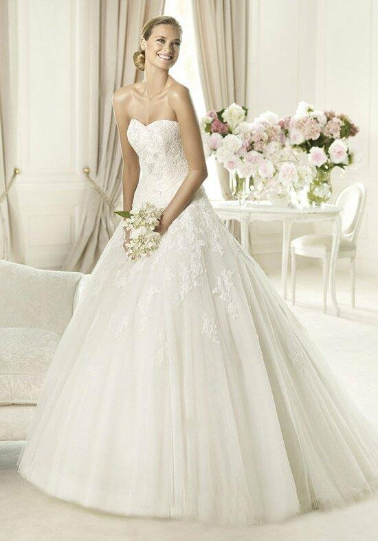 Pronovias alcanar wedding dress the knot for Pronovias wedding dresses price range