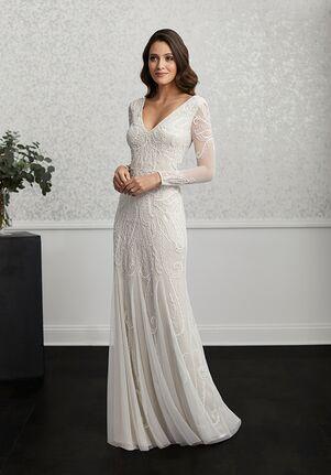 Adrianna Papell Platinum Destination 40234 Sheath Wedding Dress