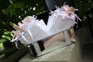 Elegant Wedding Programs with Bows