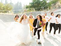 outdoor bohemian wedding in Oregon