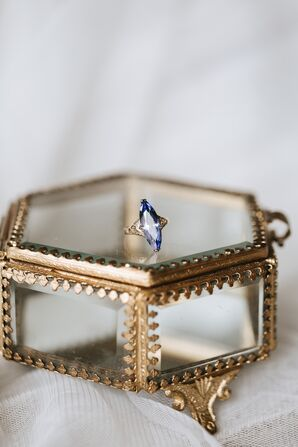 Pear Shaped Purple Wedding Ring