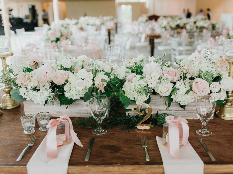 Wedding Centerpieces Box of Roses