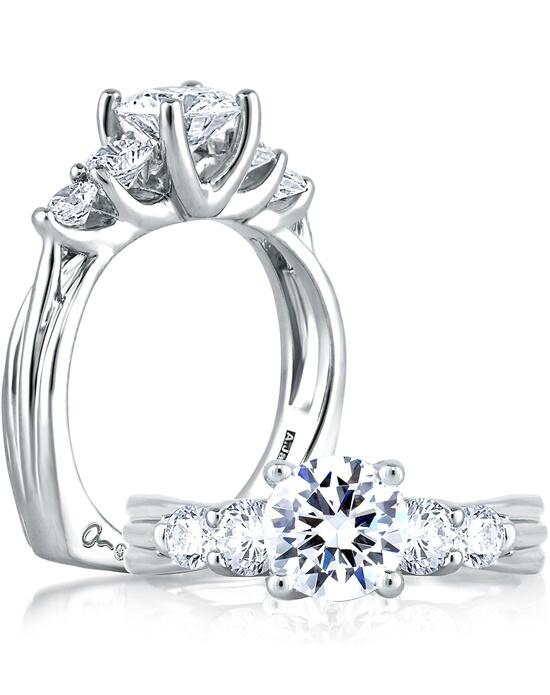 A.JAFFE Five Stone Trellis Set Engagement Ring, MES030 Engagement Ring photo