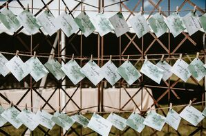 Sage-Green Watercolor Escort Cards
