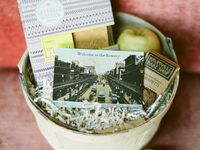 Welcome basket for guests at New York City wedding