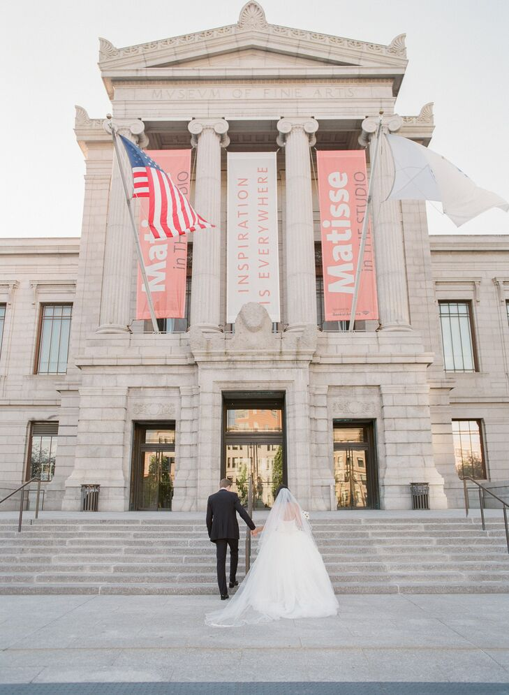 Wedding Portraits at the Museum of Fine Arts in Boston