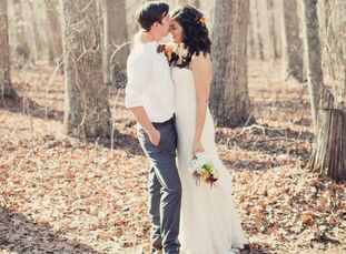 Justina and Jake's passionate creativity was reflected in the handmade elements of their natural, woodsy wedding.