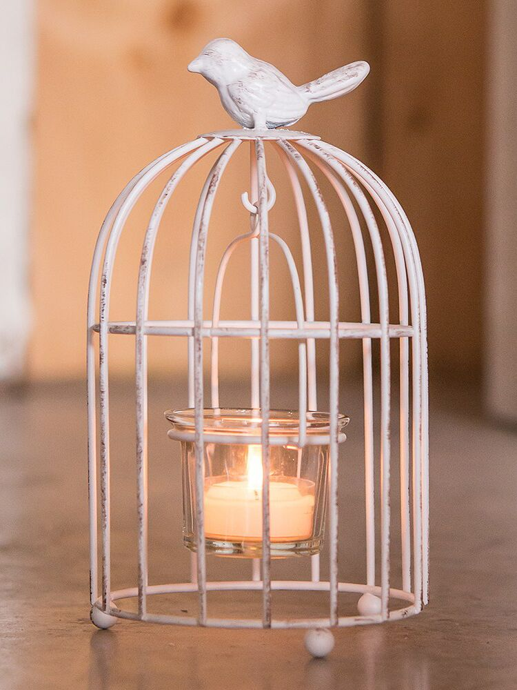 The Knot Shop small metal birdcage with tea light holder