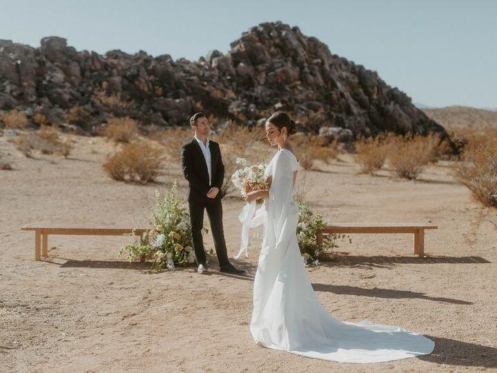 Wedding venue in Joshua Tree, California.